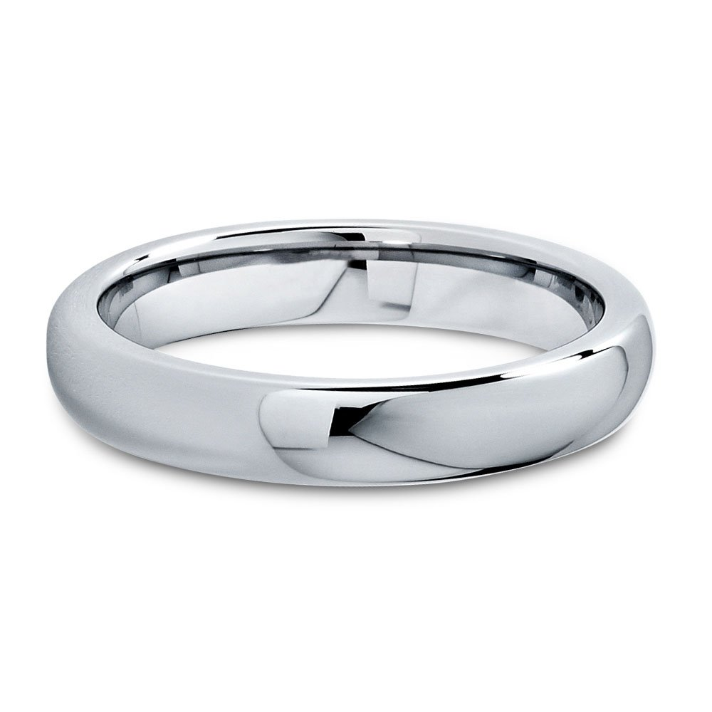 8bb38c08d051c Amazon.com: Charming Jewelers Tungsten Wedding Band Ring 5mm Men Women  Comfort Fit 18k Rose Yellow Gold Plated Blue Black Dome Brushed: Jewelry