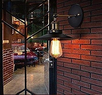 Unimall Applique Murale Industrielle 60W Lampe Rétro Décoration dintérieur Luminaire Vintage Réglable en Métal Pour Chambre Escalier Salon Bureau Porche Classe énergétique A++ U-000003