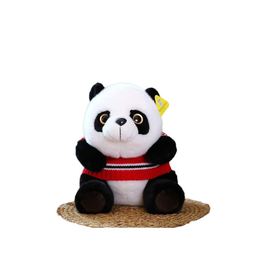 TKHCOLDM Kung Fu Panda - Panda Panda Plüschtier Puppe Simulation weibliche schwarz und weiß Kinder Geburtstagsgeschenk, Pullover David Panda, eine Gesamtlänge von 35 Limi