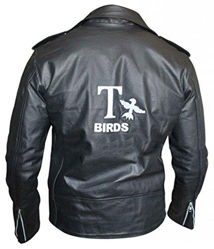 III-Fashions Danny Zuko Grease T Birds Motorcycle Black Leather Jacket