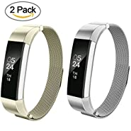 Fitbit Alta HR and Alta Band, AIUNIT Fitbit Alta Accessories Bands Watch Design Replacement Bands Alta HR Wristbands Small/Large for Fitbit Alta Fitness Tracker Women Men Boys Girls