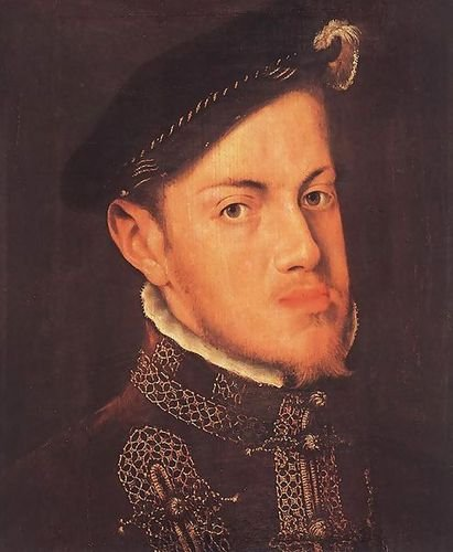 Anthonis Mor Van Dashorst Portrait of the Philip II, King of Spain c. 1554 72x88 by 1st Art Gallery
