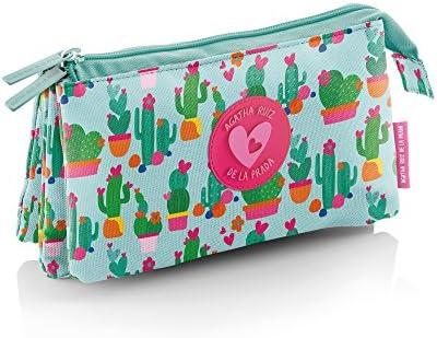 Agatha Ruiz de la Prada Agatha Ruiz De La Prada 16763 - Portatodo Triple, Diseño Cactus Portatraje de Viaje