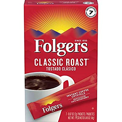 Folgers Classic Decaf Instant Coffee Crystals Packet