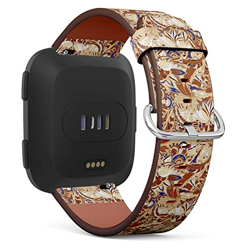 [ Compatible Fitbit Versa ] Replacement Leather Band Bracelet Strap Wristband Accessory // Batik Exotic