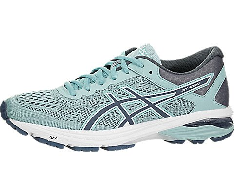 6 Shoe Control Running Stability - ASICS GT-1000 6 Women's Running Shoe, Porcelain Blue/Smoke Blue/White, 8 M US