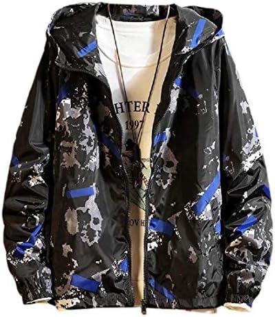 メンズフード付きウィンドブレーカー 防風コート アウトドア ハイキング クライミング トラベルジャケット コート