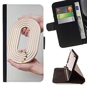 BullDog Case - FOR/Samsung Galaxy Note 3 III / - / DESIGN O 0 ZERO GAME GREY RACE DEEP /- Monedero de cuero de la PU Llevar cubierta de la caja con el ID Credit Card Slots Flip funda de cuer