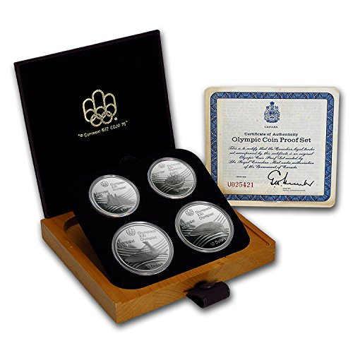 Montreal 1976 Olympic Games (CA 1976 Canada 4-Coin Silver Montreal Olympic Games Proof Set About Uncirculated)