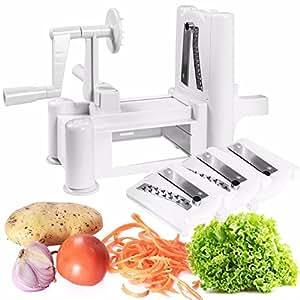 Tri-blade Plastic Spiral Vegetable Slicer Spiralizer Cutter Kitchen