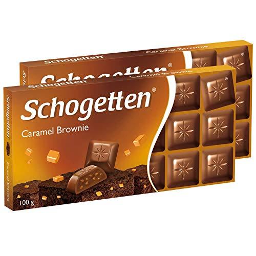 Chocolate Biscuit Cake - Schogetten Caramel Brownie Chocolate Bar Candy Original German Chocolate 100g/3.52oz (Pack of 2)