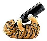 True Polyresin Tipsy Tiger Bottle Holder by True, Multicolor