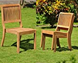 Qty 6 – Arbor Stacking Armless Grade-A Teak Wood Luxurious Dining Chair #WHDCALAB6 For Sale