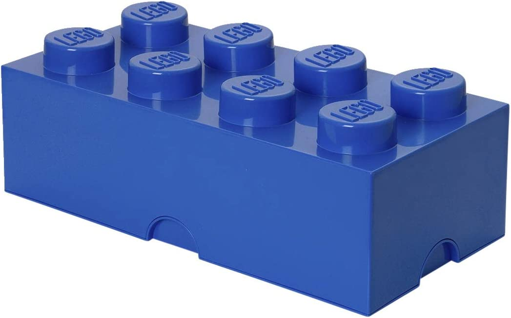 LEGO Storage Brick With 8 Knobs, in Bright Blue