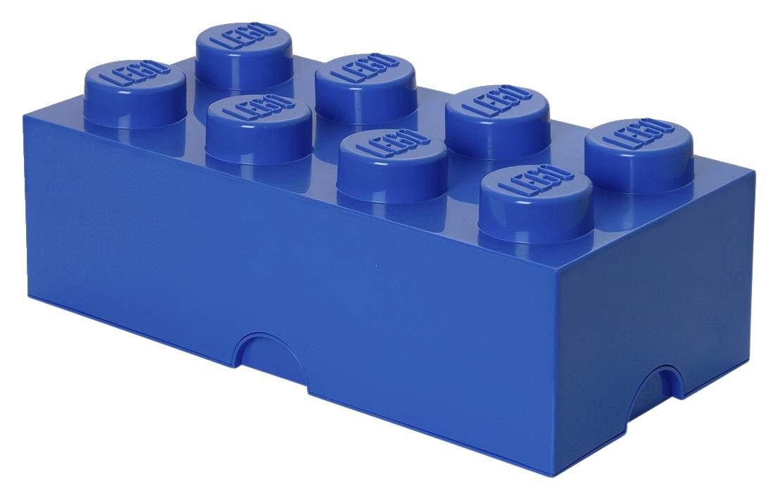 Room Copenhagen Lego Storage Box Brick 8, Large, Bright Blue