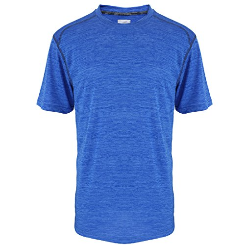 (Sports T-Shirts for Men Quick Dry Wicking Workout Athletic Running Training Tee Active Tops Sportswear Royal Blue )