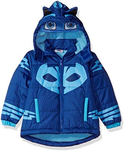 PJ Masks Boys' Toddler Catboy Puffer Coat, Blue, 3T ()