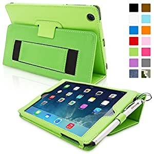 iPad Mini & Mini 2 Case, Snugg™ - Smart Cover with Flip Stand & Lifetime Guarantee (Green Leather) for Apple iPad Mini & Mini 2 with Retina
