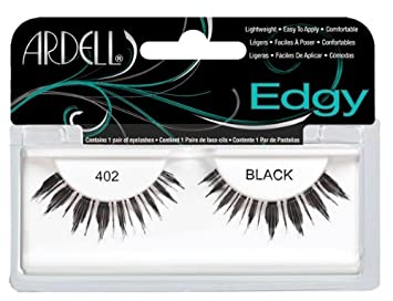 ee0120569f6 Amazon.com : Ardell Edgy Fake Eyelashes, 402 Black : Fake Eyelashes And  Adhesives : Beauty