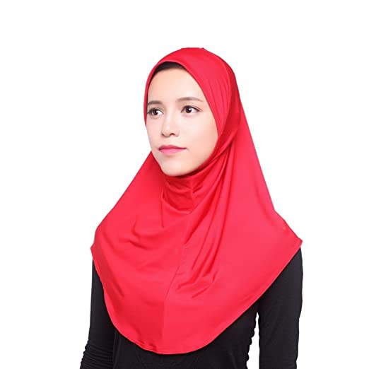 Amazon.com  Daxin Muslim Women Inner Hijab Headscarf Cap Islamic Full Cover Islamic  Hat  Clothing c94e524209d