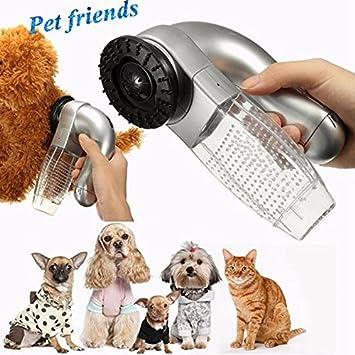 Malloom Aspirador eléctrico para pelos de Mascotas Gato Perro Mascota Removedor de Piel para el Pelo Peine Aspiradora Trimmer: Amazon.es: Electrónica
