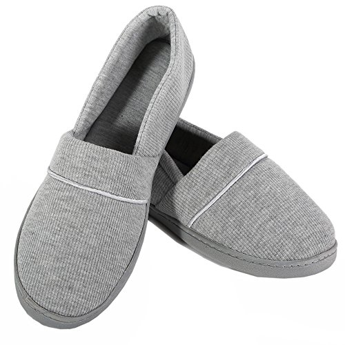 Pantoufles Fermées Dos-nu Pour Femme Chaussures Légères Intérieures / Intérieures Souples Avec Semelles Antidérapantes Grises