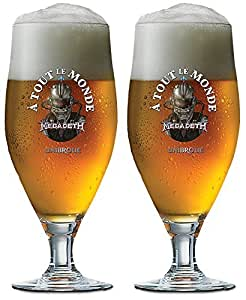 Megadeth Unibroue À Tout Le Monde Beer Glass 2 Pack
