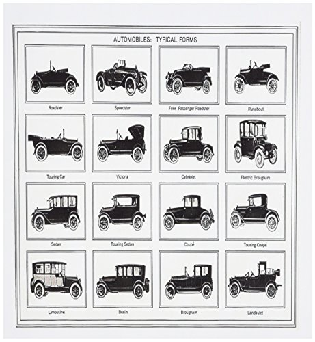 [3dRose image of antique car chart - Greeting Cards, 6 x 6 inches, set of 6 (gc_174549_1)] (Greeting Car)