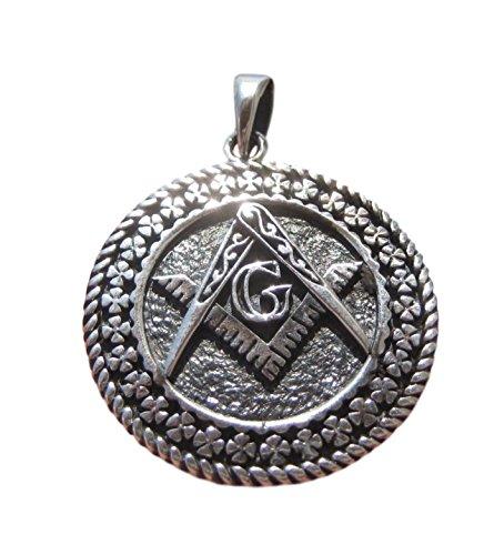 Himalayan Treasures 925 Silver Free Mason Masonic Pendant Necklace Thailand Jewelry Art A12