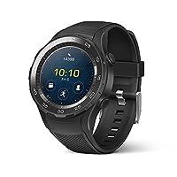 Reloj inteligente de Huawei Watch 2 Sport - Bisel de cerámica - Correa negra de carbón (Garantía de EE. UU.)