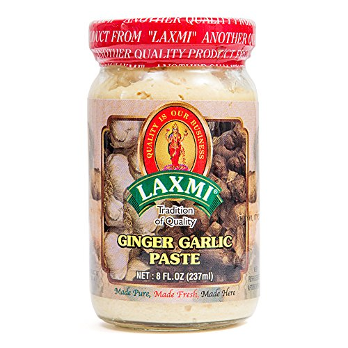 Laxmi Traditional Indian Ginger Garlic Cooking Paste, 8 Ounces - Ginger Paste