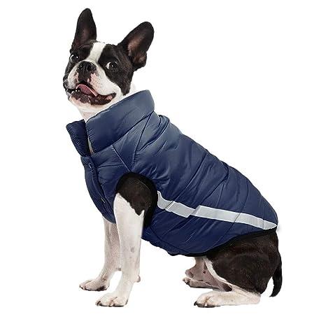 TYJY Ropa para Perros De Invierno Pug Reflectante para Mascotas Abrigo De Algodón Ropa para Perros