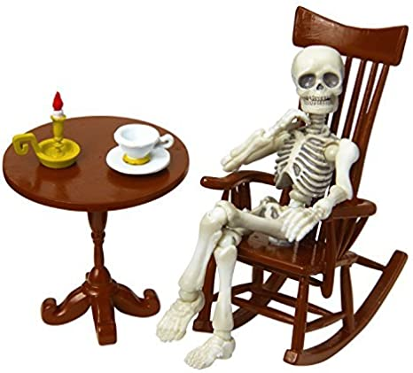 Re-ment Miniatures Rement Pose Skeleton Accessory Rocking Chair