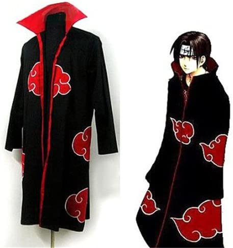 Scene® Japanese Anime Costumes Cosplay Costumes Naruto Akatsuki Ninja Uniform / Cloak,size L