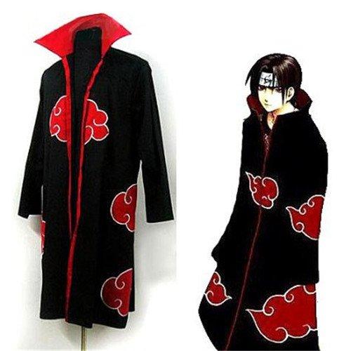 Scene Japanese Anime Costumes Cosplay Costumes Naruto Akatsuki Ninja Uniform / Cloak,size L