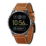 Kartice for Fossil Q Marshal Gen 2 Band, 22MM Fossil Q Gen 2 Bands Leather Strap Replacement Band with Stainless Steel Buckle for Fossil Q Marshal Gen 2&Gen 3 Q Explorist Smart Watch(brown 22mm)