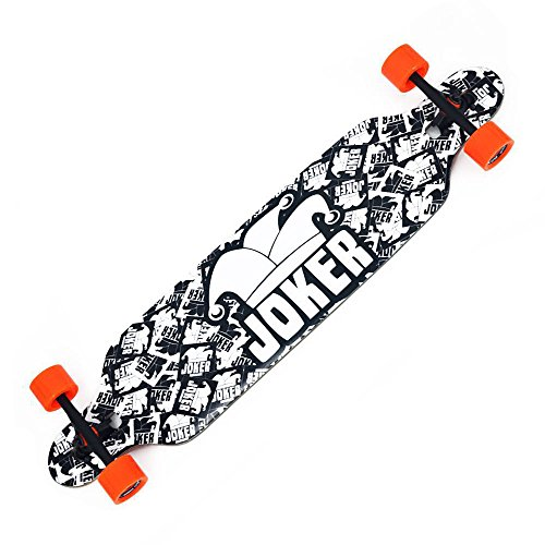 Backfire New Cruiser Drop Through Longboard Complete Professional Longboards, balck