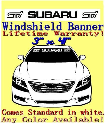 "! Buy Now Subaru WRT Windshield Banner 4/"" X 40/"" Decal Sticker Choose Color"
