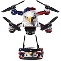 Skin for DJI Spark Mini Drone Combo - America Strong| MightySkins Protective, Durable, and Unique Vinyl Decal wrap cover | Easy To Apply, Remove, and Change Styles | Made in the USA