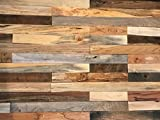 macLEDs PLANK-20SF-mixed Hardwood Wall Planks 20 Sq.'. Distressed Mixed Wood Wall Planks
