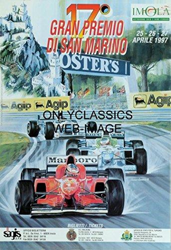 1997 SAN Marino Grand Prix Formula ONE AUTO Racing Poster Michael Schumacher F1