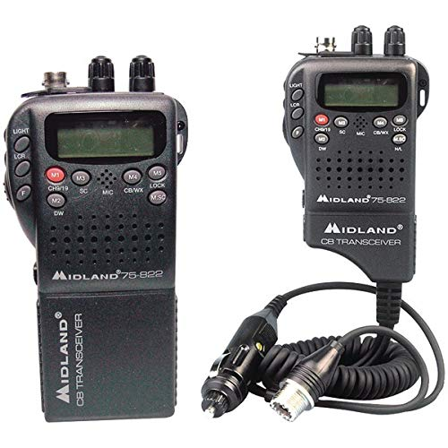 Midland Radio 75-822 Portable Mobile CB Radio, Large LCD Display, Keypad Lock, Plug and Play, Rugged Construction, Up To 40 Channels by Midland