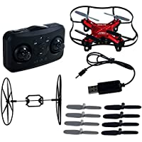 Luxon Quark RC Quadcopter 4 Channel 2.4 GHz 6-axis Gyro ,Mini Drone RTF GD50F (Red)