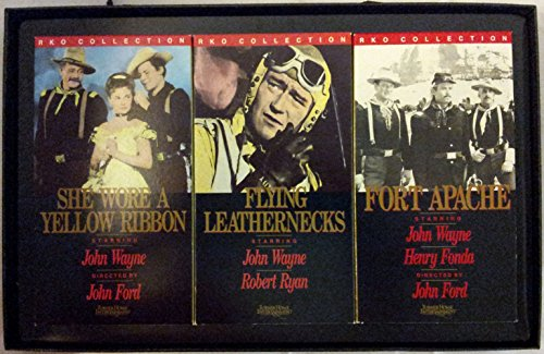 The Films of John Wayne - Three Tape Set {Fort Apache, She Wore a Yellow Ribbon, Flying Leathernecks}