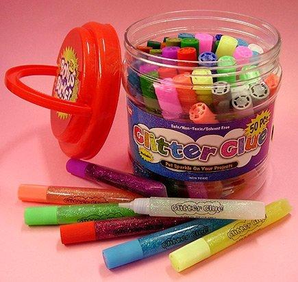 (Glitter Glue Pens- Bonus Bucket Set of 50)