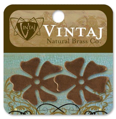 Vintaj 2-Piece Hawaiian Flower Altered Blanks, 28mm