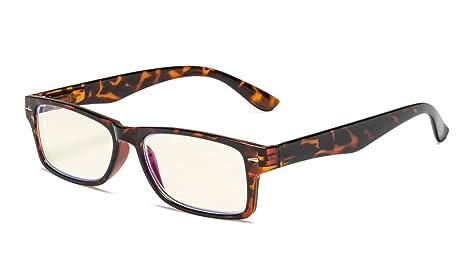 Nero, Giallo Tinto Lenti Eyekepper Protezione UV di lettori Anti abbagliamento degli occhiali +0.75 cerniere a molla Computer occhiali da lettura Anti raggi blu