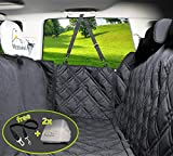 Meadowlark Dog Seat Covers Unique Design & Full Car Protection-Doors,Headrests & Backseat. Extra Durable Zippered Side Flap, Waterproof Pet Seat Cover + Seat Belt & 2 Headrest Protectors as a Gift For Sale