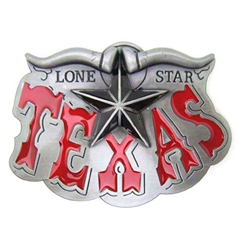 Star Cool Belt Buckle - MASOP American Country Western Star Longhorn Texas Belts Buckles Men