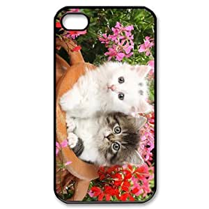 ALICASE Diy Customized hard Case Lovely Cat For Iphone 4/4s [Pattern-1]